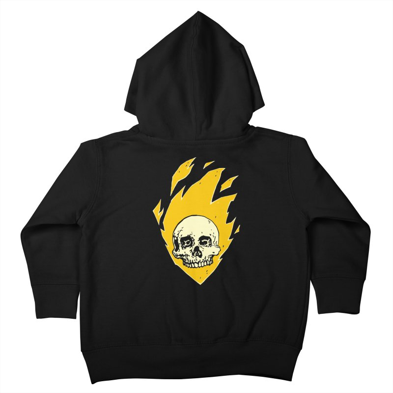 Flaming skull Kids Toddler Zip-Up Hoody by Seth Banner's Artist Shop