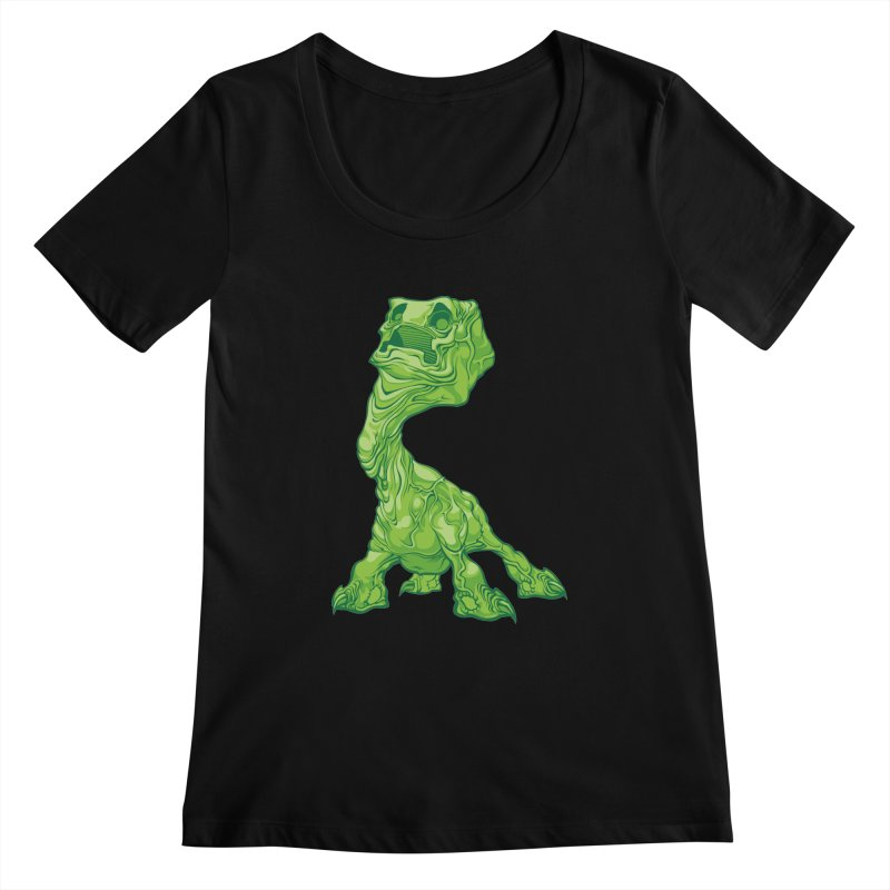 Creepy Creeper creeping. Women's Scoopneck by Seth Banner's Artist Shop