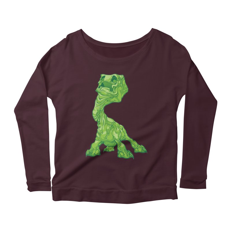 Creepy Creeper creeping. Women's Longsleeve Scoopneck  by Seth Banner's Artist Shop