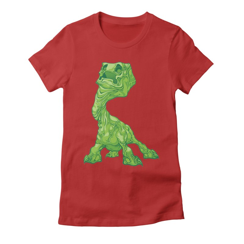 Creepy Creeper creeping. Women's Fitted T-Shirt by Seth Banner's Artist Shop