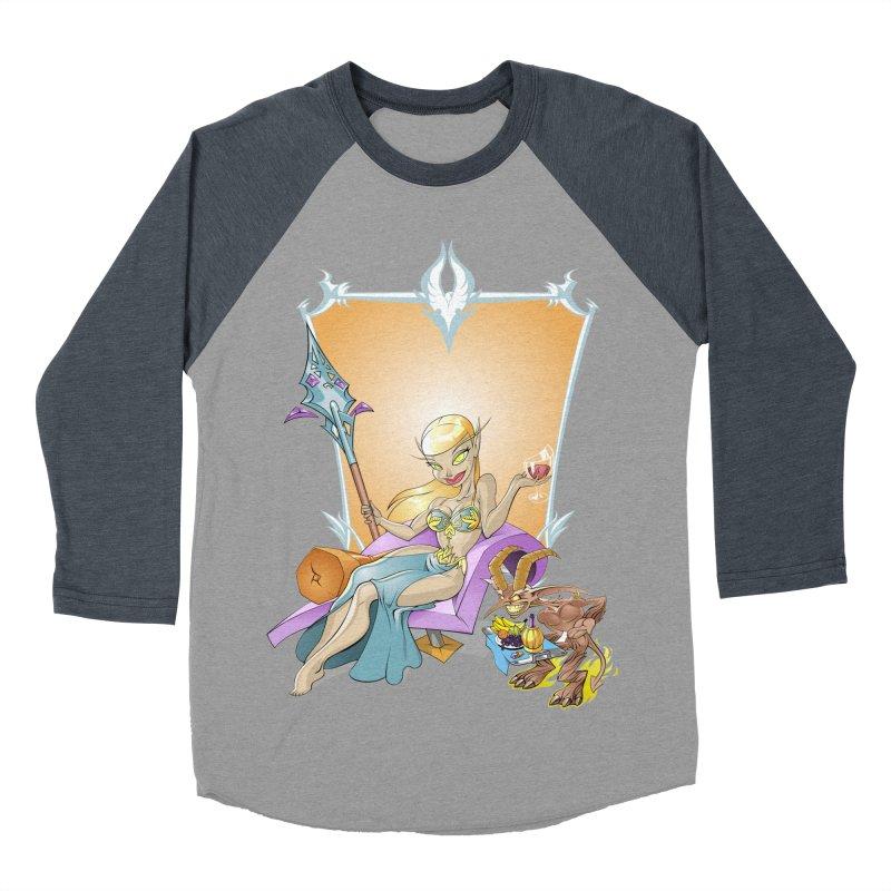 Blood Elf Warlock Women's Baseball Triblend T-Shirt by Seth Banner's Artist Shop