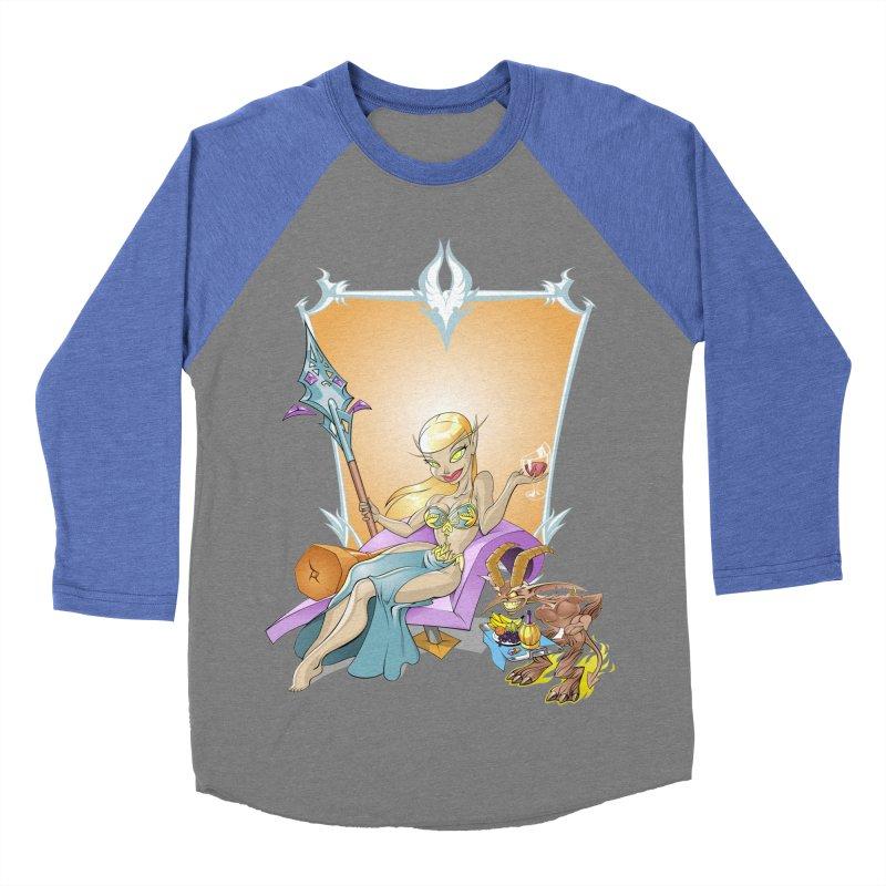 Blood Elf Warlock Men's Baseball Triblend T-Shirt by Seth Banner's Artist Shop