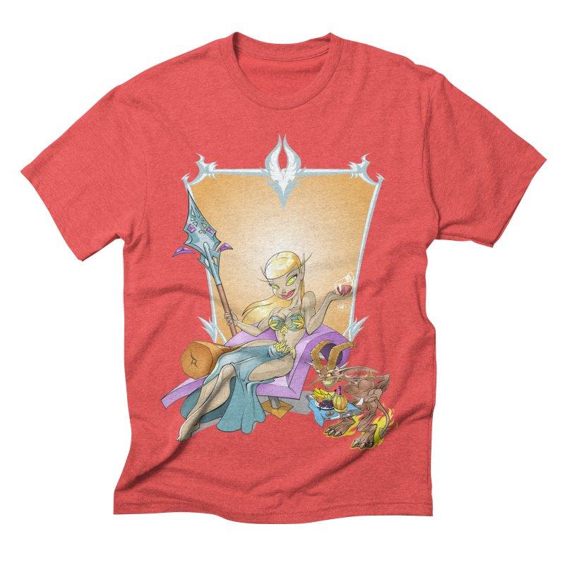 Blood Elf Warlock Men's Triblend T-shirt by Seth Banner's Artist Shop