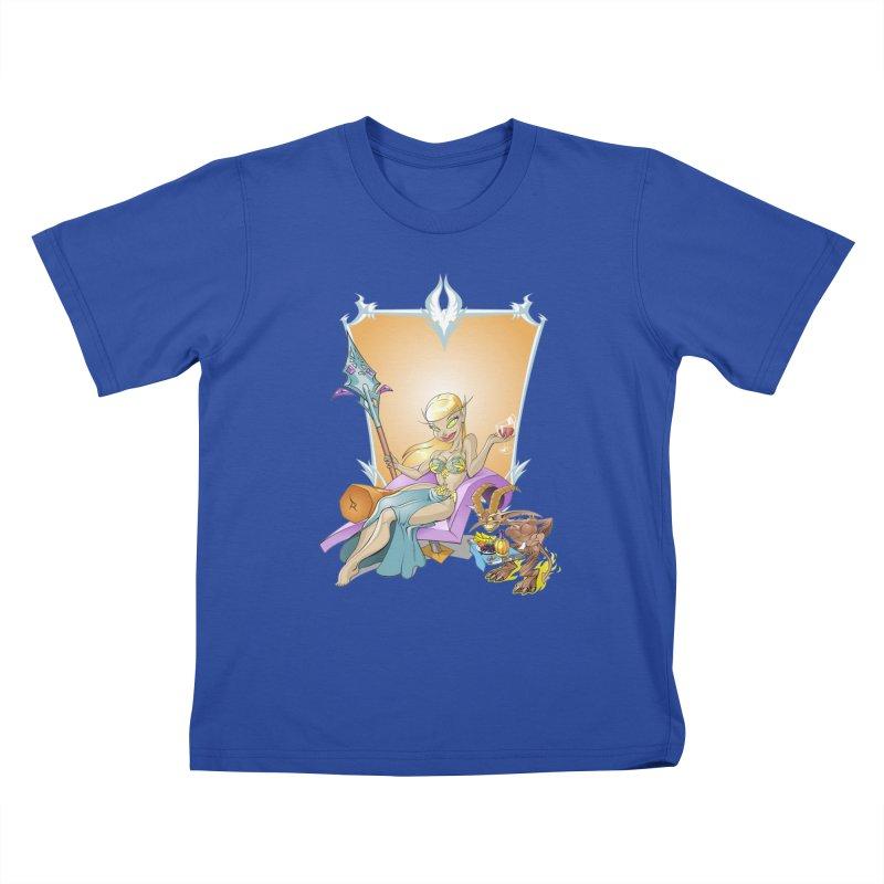 Blood Elf Warlock Kids T-Shirt by Seth Banner's Artist Shop