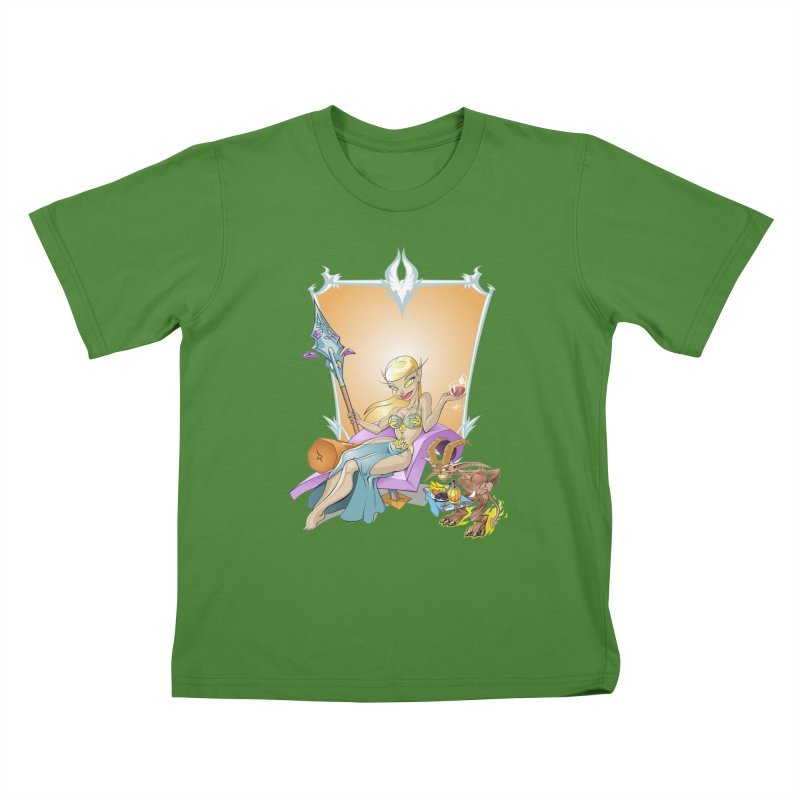 Blood Elf Warlock Kids T-shirt by Seth Banner's Artist Shop