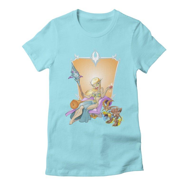 Blood Elf Warlock Women's Fitted T-Shirt by Seth Banner's Artist Shop