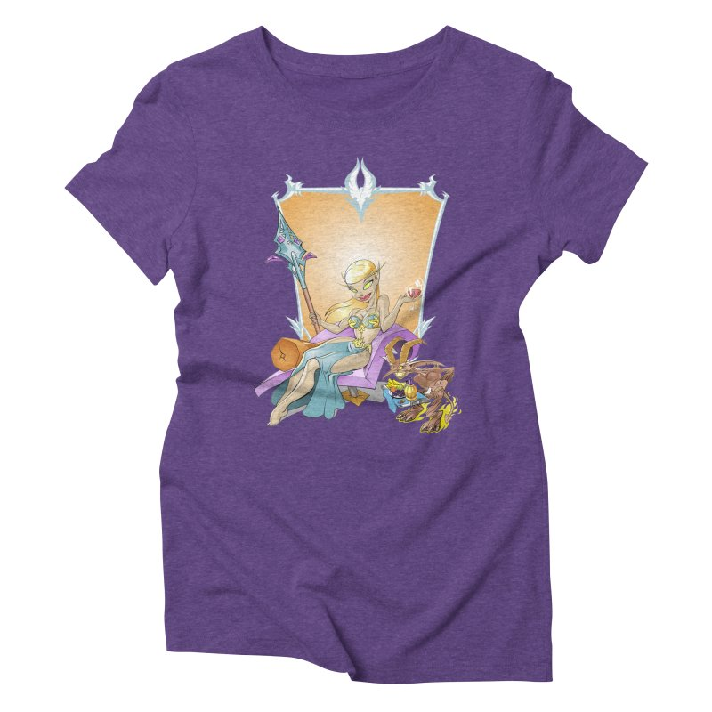 Blood Elf Warlock Women's Triblend T-shirt by Seth Banner's Artist Shop