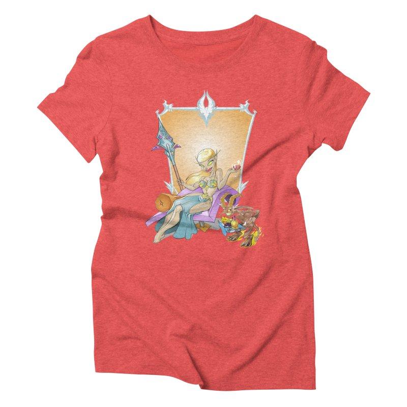 Blood Elf Warlock Women's Triblend T-shirt by Seth Banner's Artist Shop