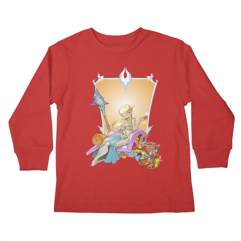 Blood Elf Warlock Kids Longsleeve T-Shirt by Seth Banner's Artist Shop