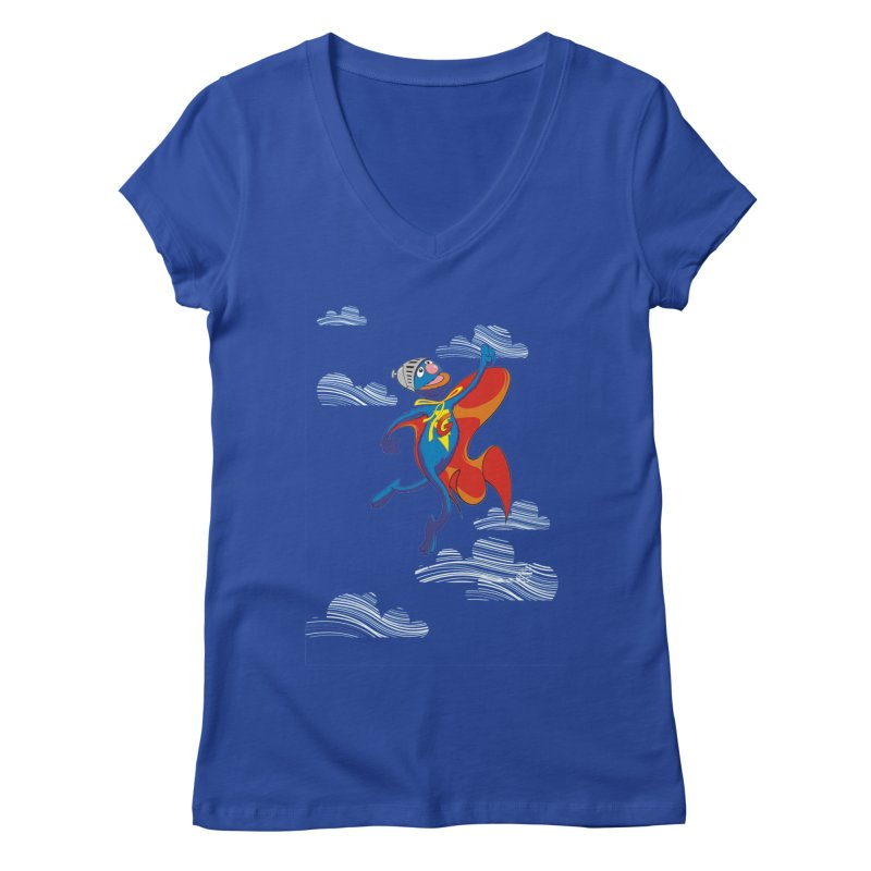 SuperGrover! Women's V-Neck by Seth Banner's Artist Shop