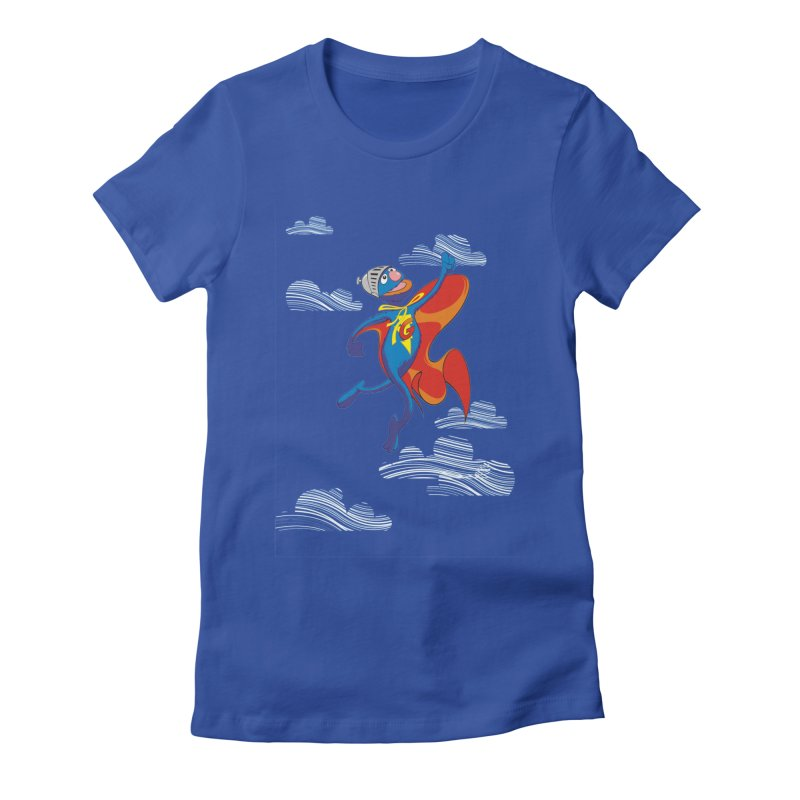 SuperGrover! Women's Fitted T-Shirt by Seth Banner's Artist Shop