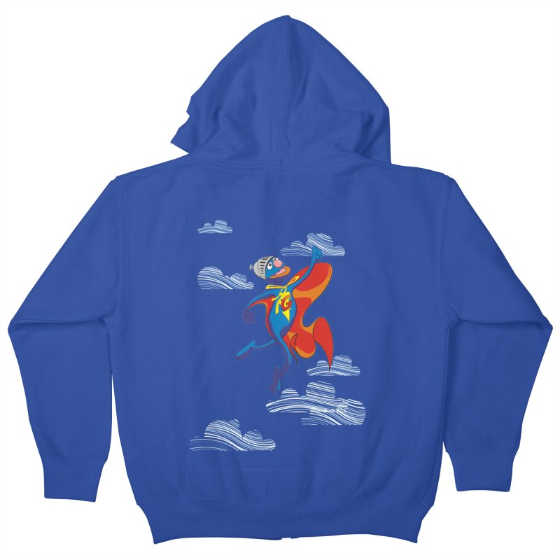SuperGrover! Kids Zip-Up Hoody by Seth Banner's Artist Shop