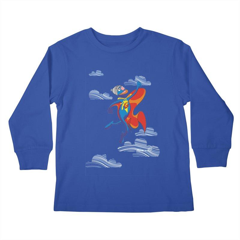SuperGrover! Kids Longsleeve T-Shirt by Seth Banner's Artist Shop