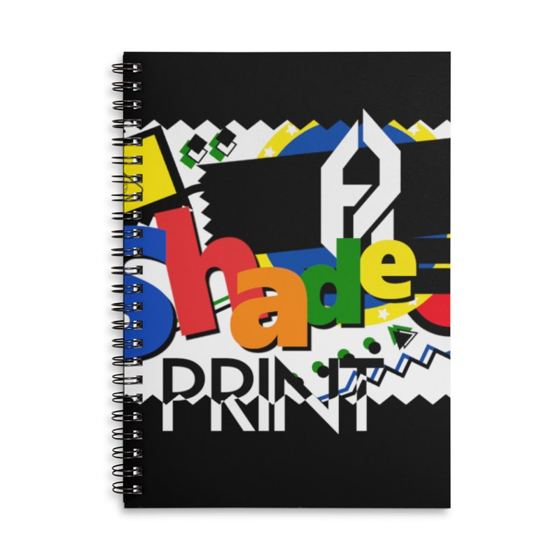 PLAY Shadeprint Accessories Lined Spiral Notebook by Shadeprint's Artist Shop
