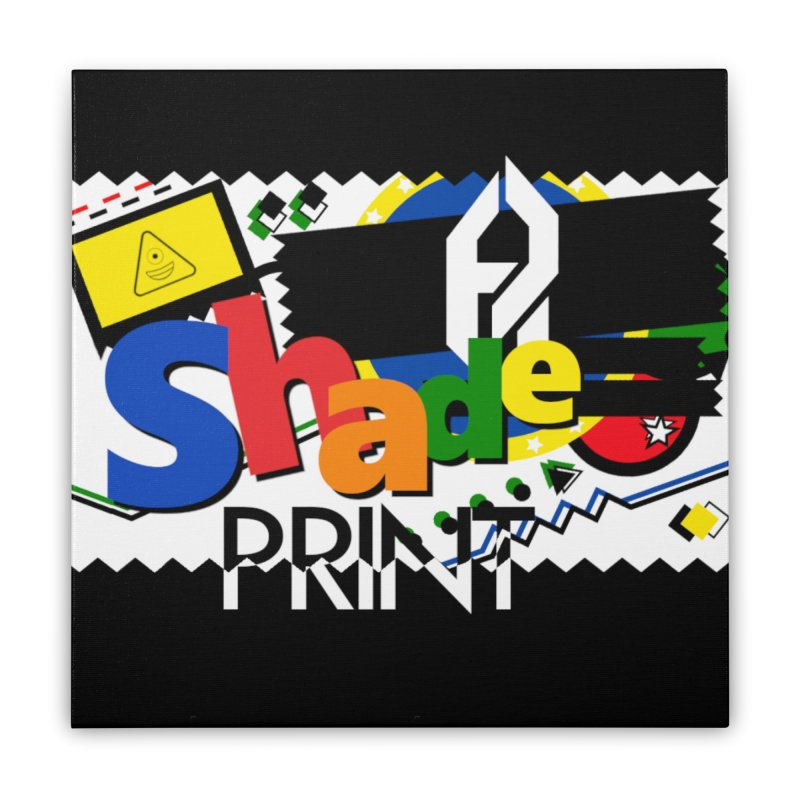 PLAY Shadeprint Home Stretched Canvas by Shadeprint's Artist Shop