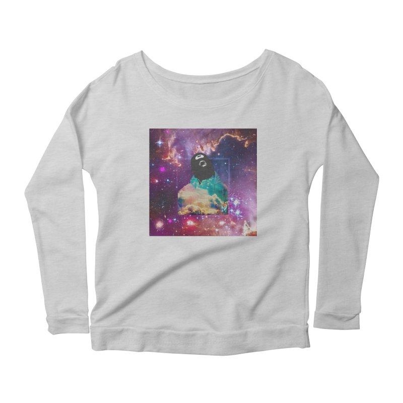 Astronauts $trange Atmospheric Parasite. Women's Scoop Neck Longsleeve T-Shirt by Shadeprint's Artist Shop