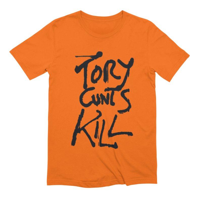 Austerity Kills Men's Extra Soft T-Shirt by Shadeprint's Artist Shop