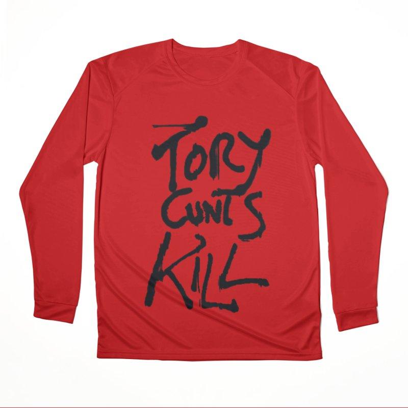 Austerity Kills Men's Performance Longsleeve T-Shirt by Shadeprint's Artist Shop