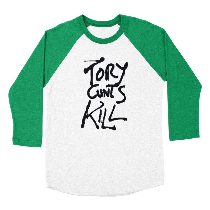 Austerity Kills Men's Baseball Triblend Longsleeve T-Shirt by Shadeprint's Artist Shop