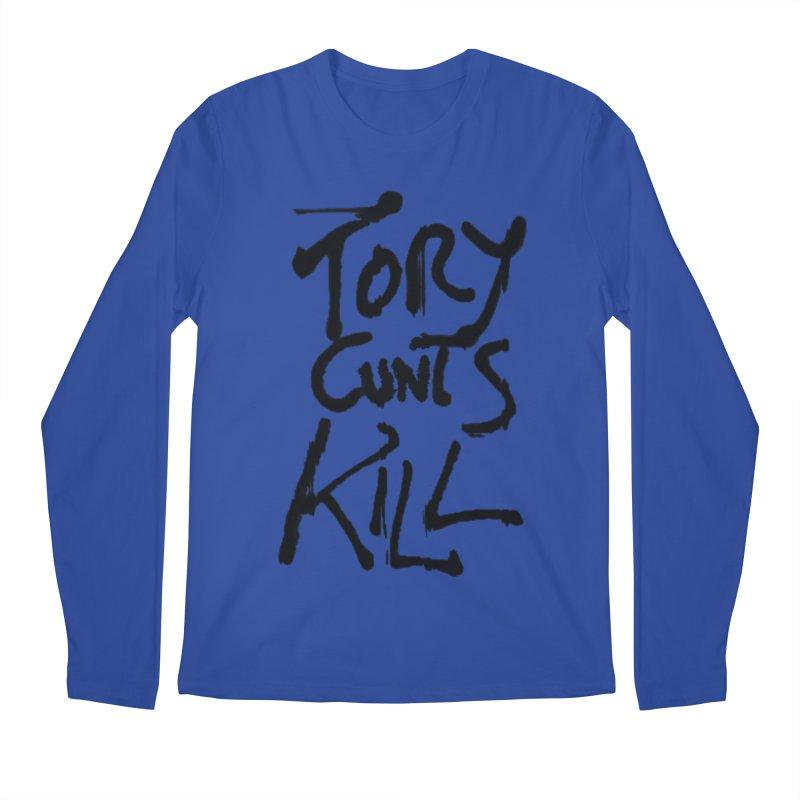 Austerity Kills Men's Regular Longsleeve T-Shirt by Shadeprint's Artist Shop