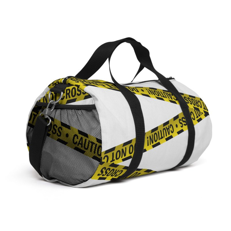 Caution Cross Accessories Bag by SHADEPRINT.DESIGN