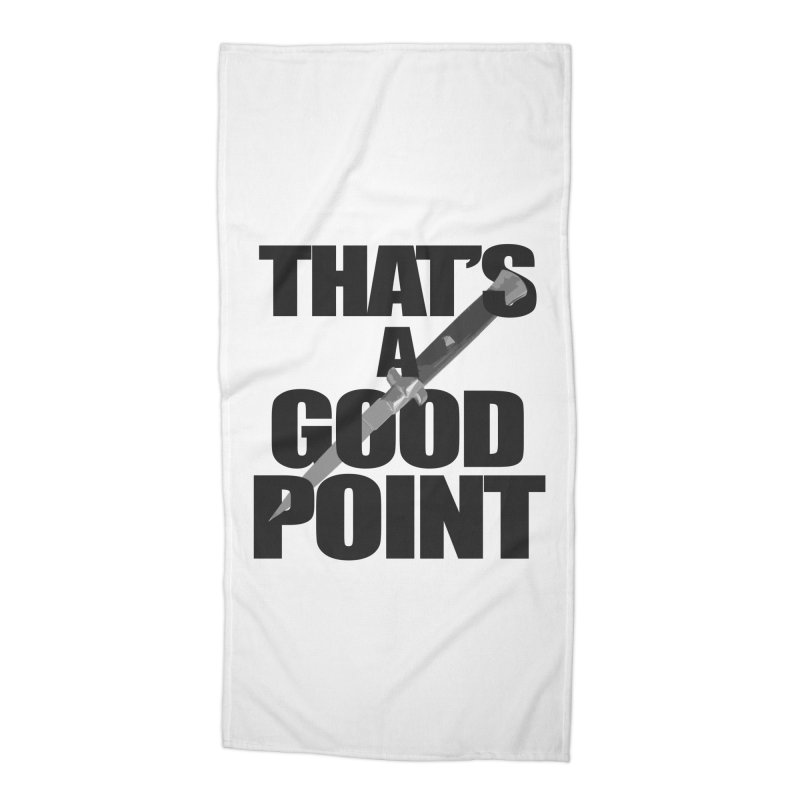 GOOD POINT! Accessories Beach Towel by SHADEPRINT.DESIGN