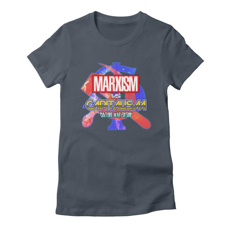Marxism vs Capitalism: Culture War Edition Women's T-Shirt by SHADEPRINT.DESIGN