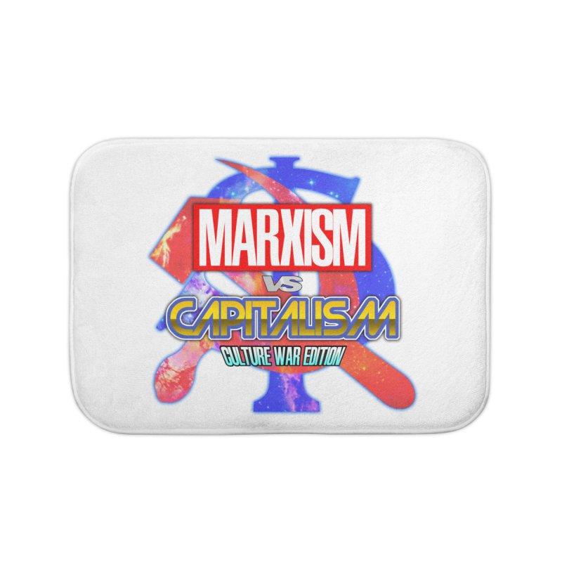 Marxism vs Capitalism: Culture War Edition Home Bath Mat by SHADEPRINT.DESIGN