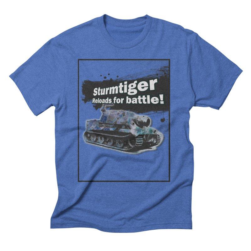 Sturmtiger: Reloads for Battle! Men's T-Shirt by SHADEPRINT.DESIGN