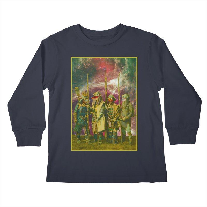 Samurai Space Guardians. Kids Longsleeve T-Shirt by SHADEPRINT.DESIGN