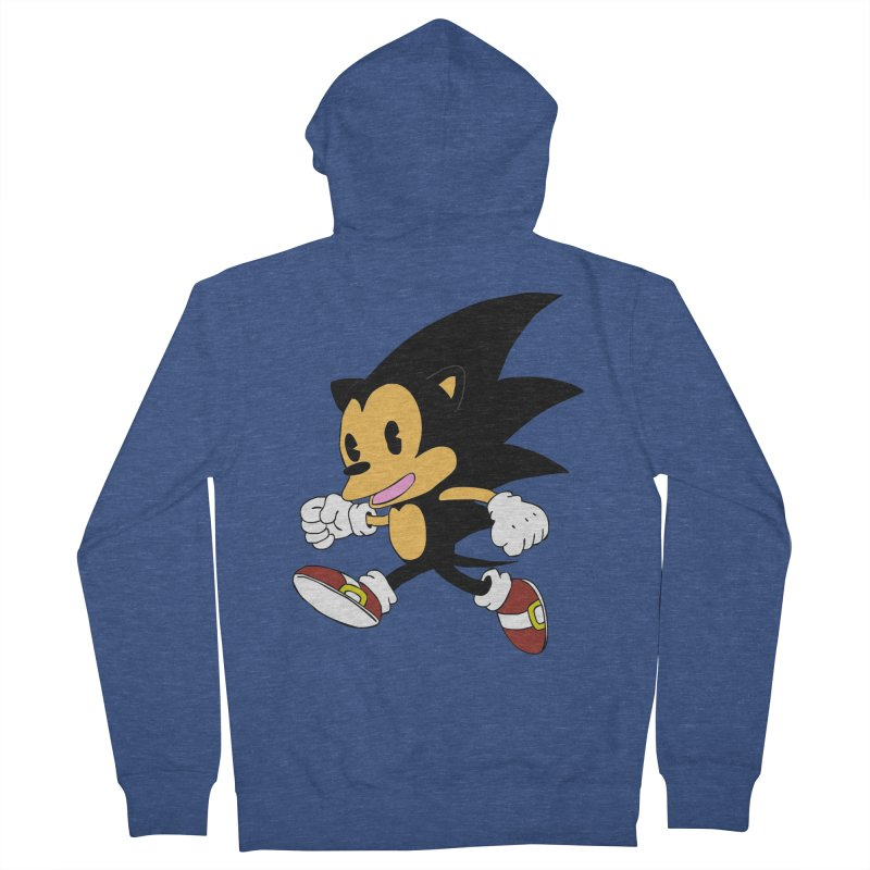 Vintage the Hedgehog Women's Zip-Up Hoody by Shadeprint's Artist Shop