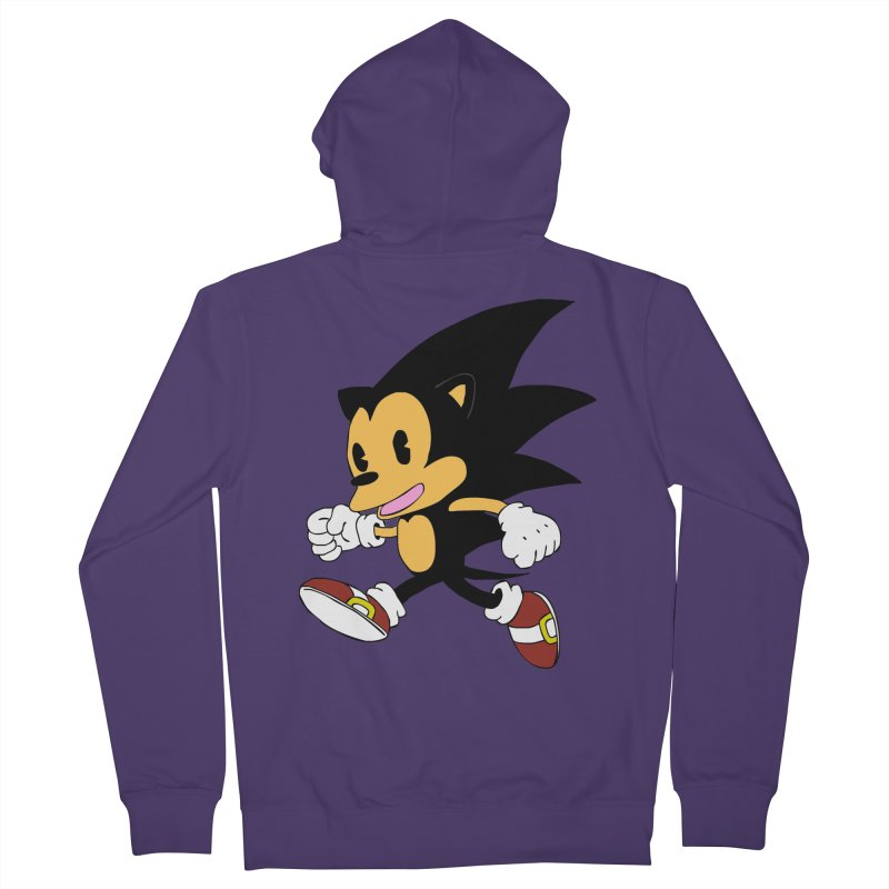 Vintage the Hedgehog Women's French Terry Zip-Up Hoody by Shadeprint's Artist Shop