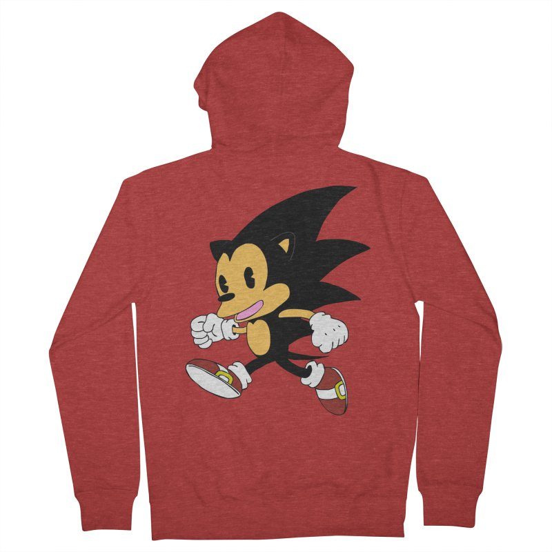 Vintage the Hedgehog Men's Zip-Up Hoody by Shadeprint's Artist Shop