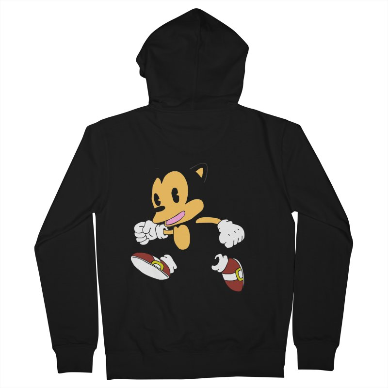 Vintage the Hedgehog Men's French Terry Zip-Up Hoody by Shadeprint's Artist Shop
