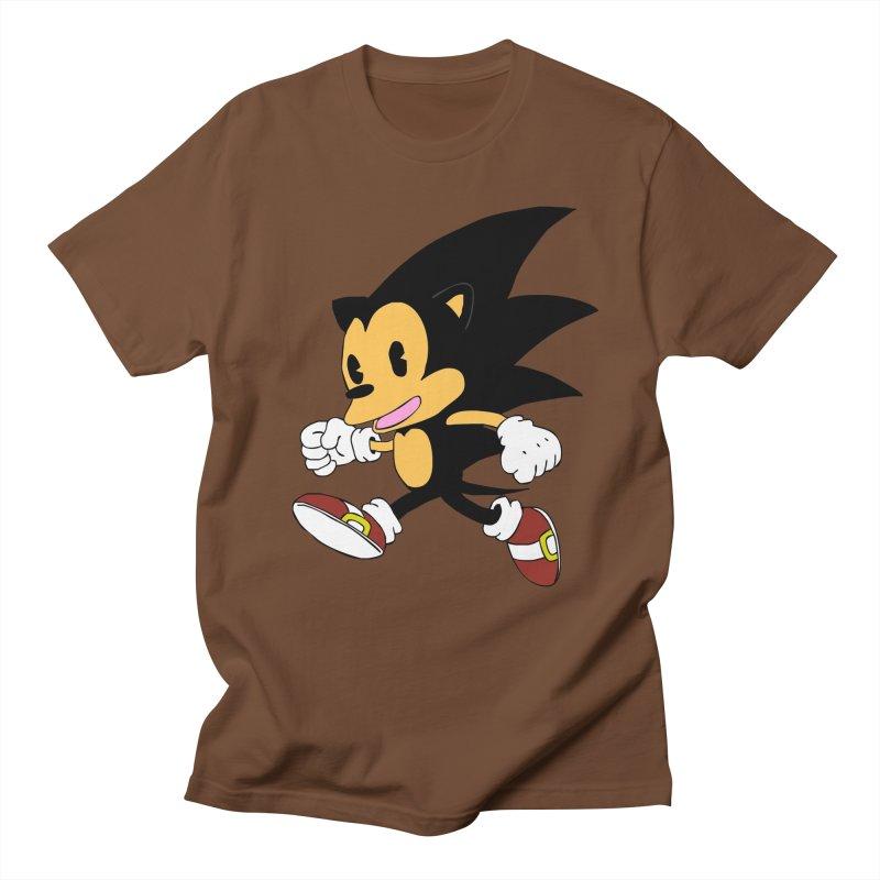 Vintage the Hedgehog Men's Regular T-Shirt by Shadeprint's Artist Shop