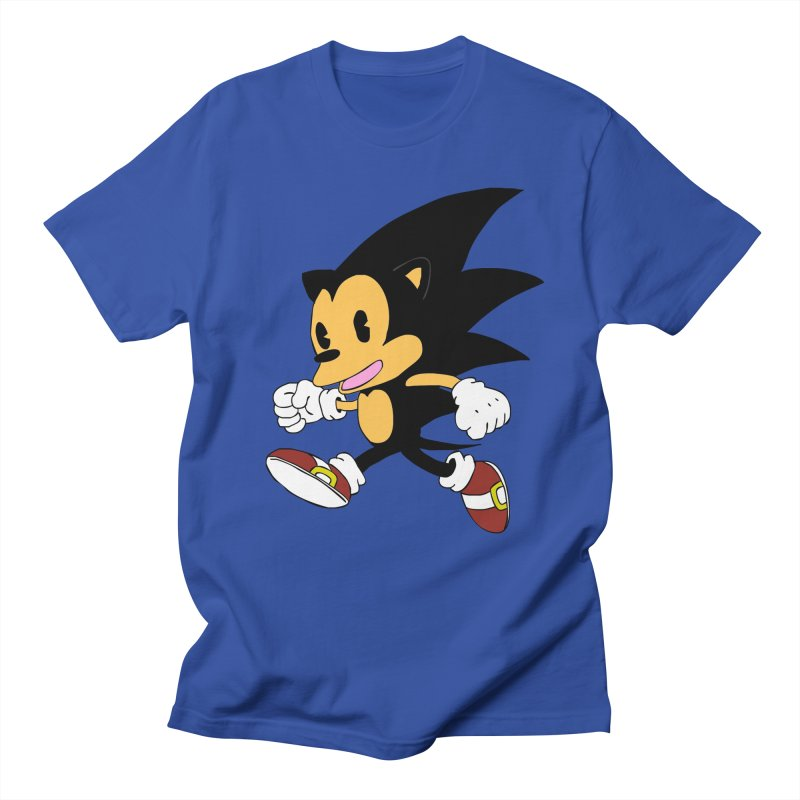 Vintage the Hedgehog in Men's Regular T-Shirt Royal Blue by Shadeprint's Artist Shop