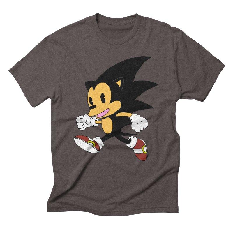 Vintage the Hedgehog Men's Triblend T-Shirt by Shadeprint's Artist Shop