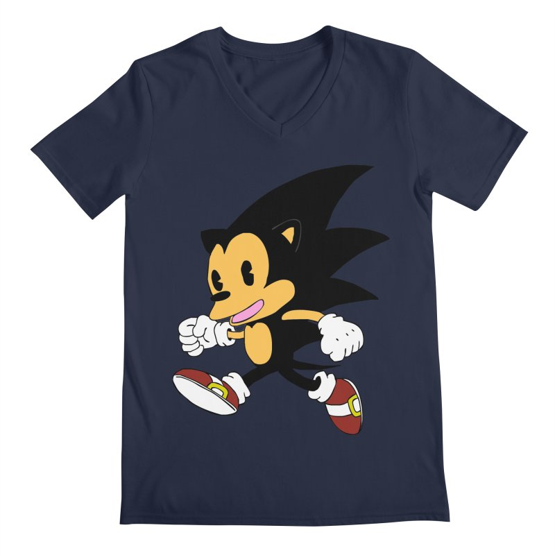 Vintage the Hedgehog Men's V-Neck by Shadeprint's Artist Shop