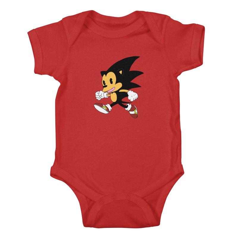 Vintage the Hedgehog Kids Baby Bodysuit by Shadeprint's Artist Shop