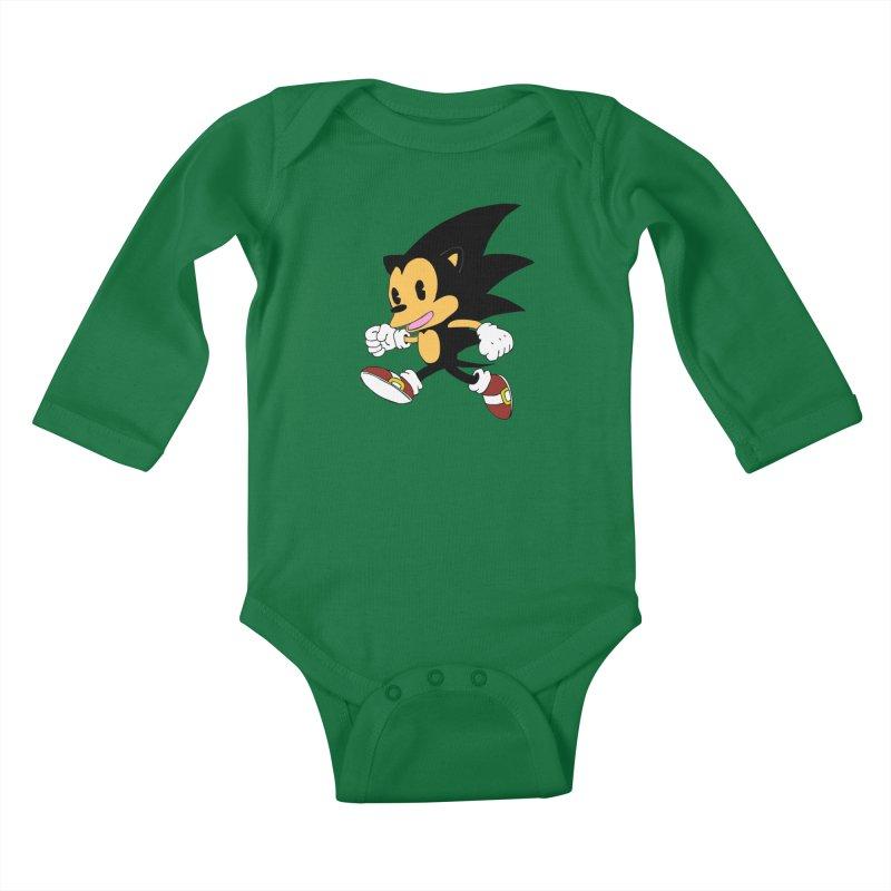 Vintage the Hedgehog Kids Baby Longsleeve Bodysuit by Shadeprint's Artist Shop