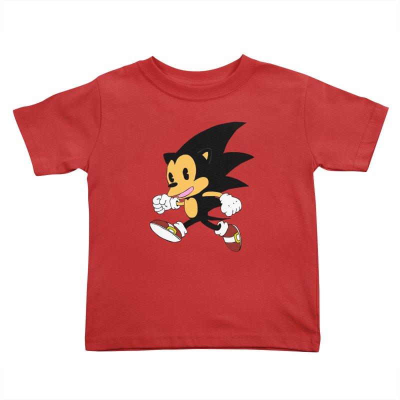 Vintage the Hedgehog Kids Toddler T-Shirt by Shadeprint's Artist Shop