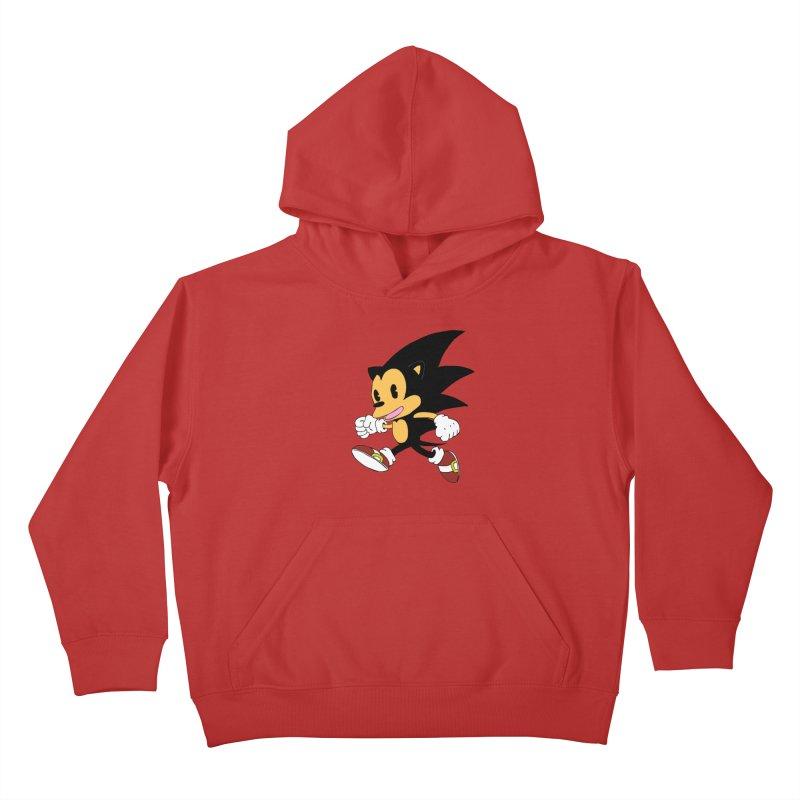 Vintage the Hedgehog Kids Pullover Hoody by Shadeprint's Artist Shop