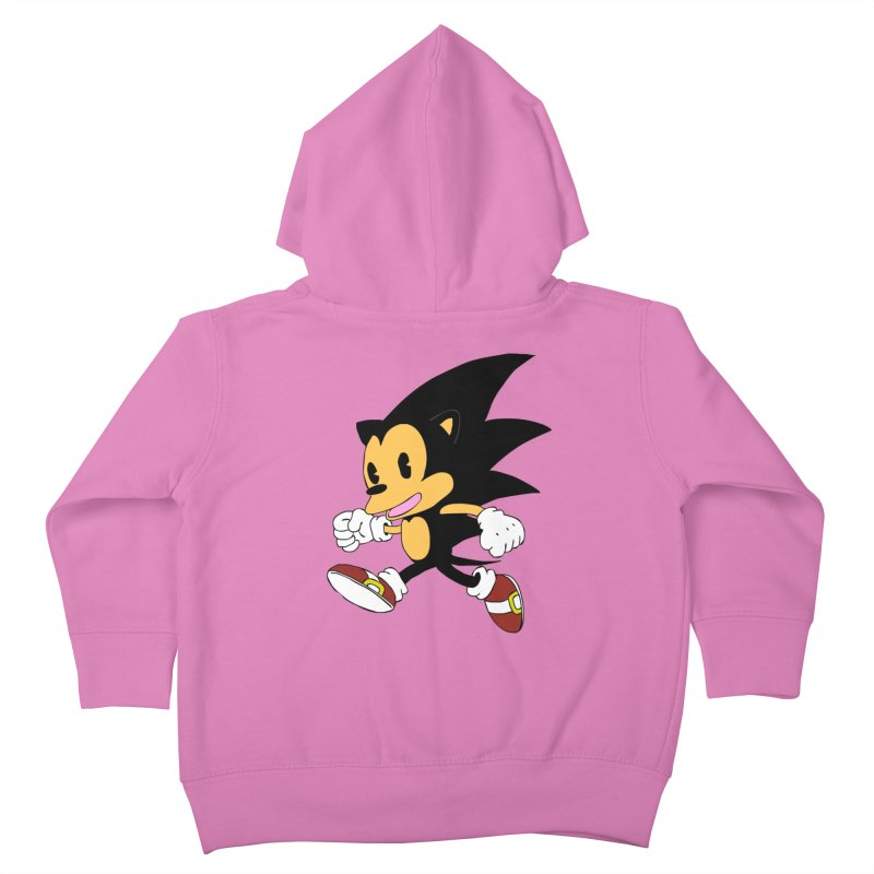 Vintage the Hedgehog Kids Toddler Zip-Up Hoody by Shadeprint's Artist Shop