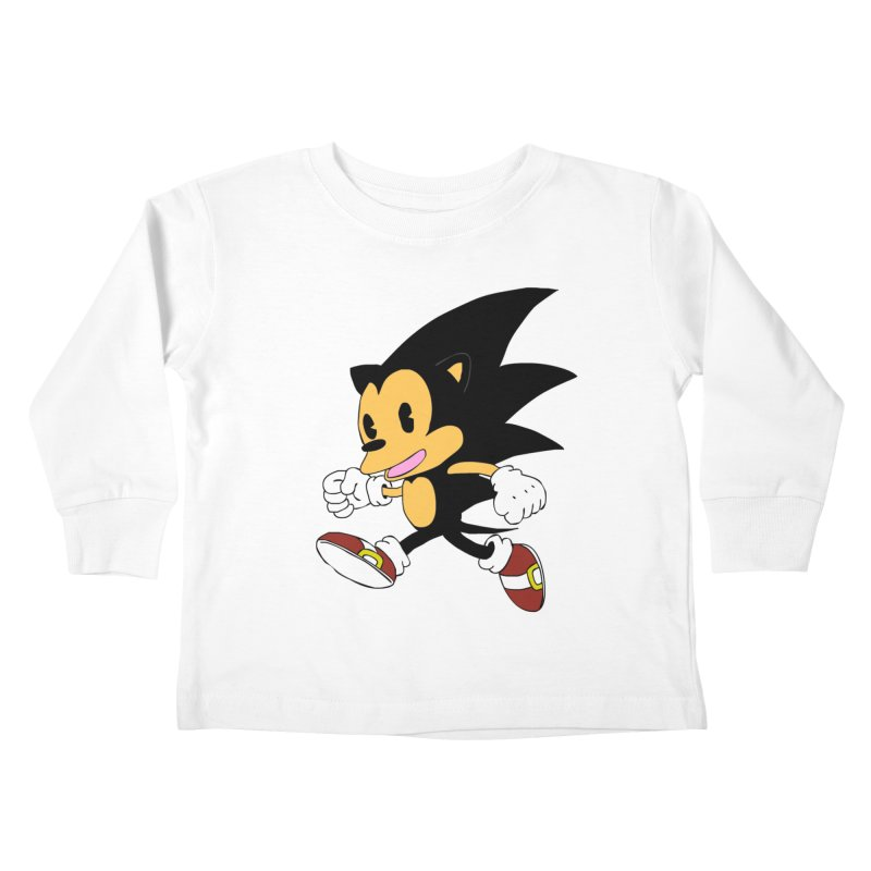 Vintage the Hedgehog Kids Toddler Longsleeve T-Shirt by Shadeprint's Artist Shop