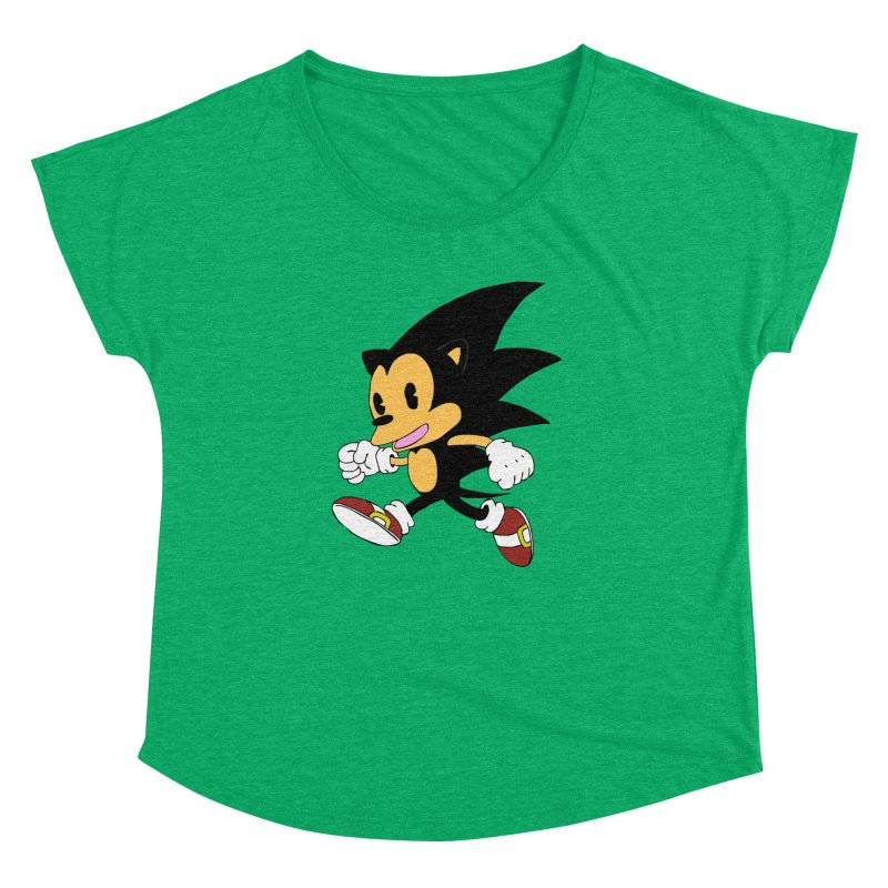Vintage the Hedgehog Women's Dolman Scoop Neck by Shadeprint's Artist Shop