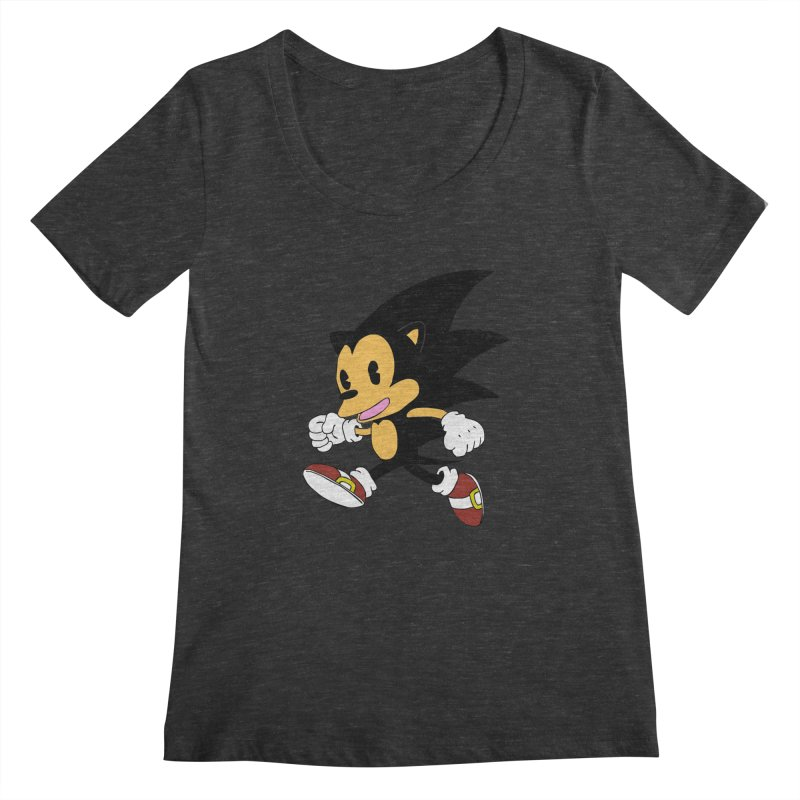 Vintage the Hedgehog Women's Scoopneck by Shadeprint's Artist Shop