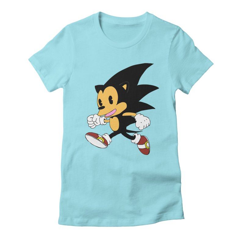Vintage the Hedgehog Women's Fitted T-Shirt by Shadeprint's Artist Shop