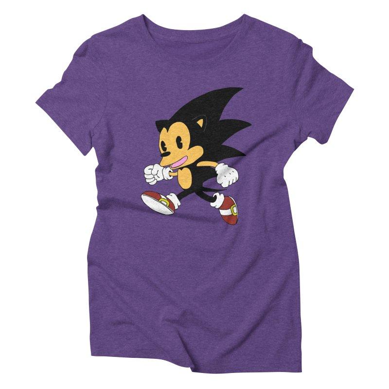 Vintage the Hedgehog Women's Triblend T-Shirt by Shadeprint's Artist Shop