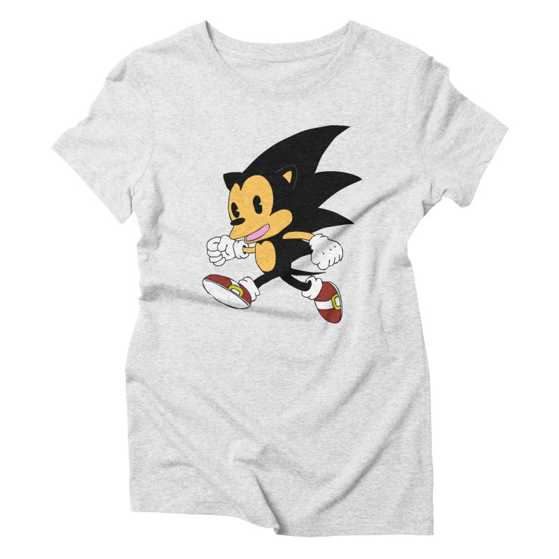Vintage the Hedgehog Women's Triblend T-shirt by Shadeprint's Artist Shop
