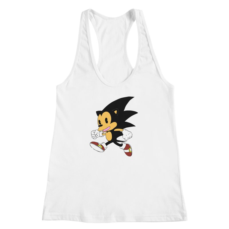 Vintage the Hedgehog Women's Racerback Tank by Shadeprint's Artist Shop
